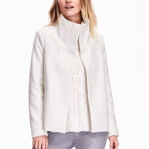 White Funnel Neck Coat BNWT 💕💕💕💕