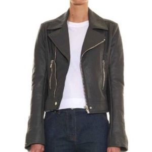 Balenciaga Jackets & Blazers - Balenciaga dark grey motorcycle leather jacket