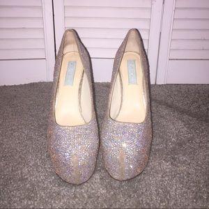 Betsy Johnson rhinestone high heels 9.5