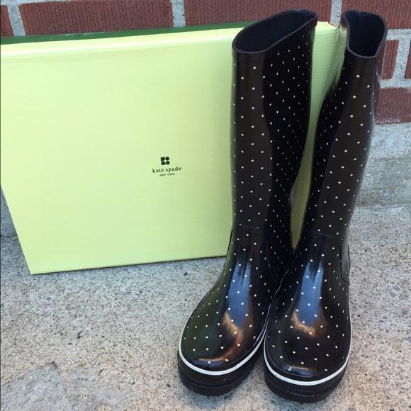 93ada11bfb2a kate spade Shoes - Kate Spade Polka Dot Rain Boots
