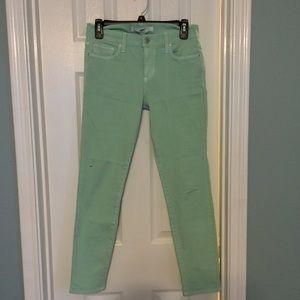 """Else Denim - Else """"Ankle Skinny"""" Mint green jeans"""