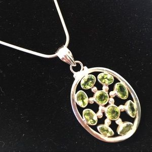 Jewelry - Peridot and sterling pedant.
