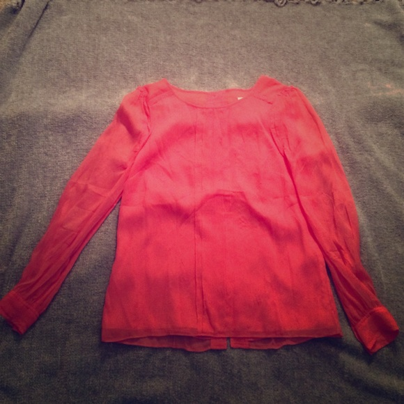 J Crew Tops Flowy Top Button Up The Back Poshmark