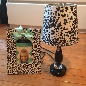 Other - Leopard lamp and picture frame