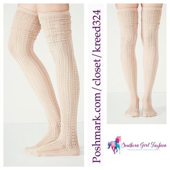 0b53b2f51 Free People Accessories | Socks Textured Long Thigh High Tall | Poshmark