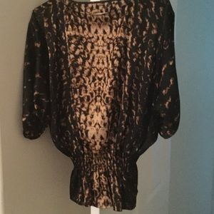 Small Vince Camuto Animal Print Shirt