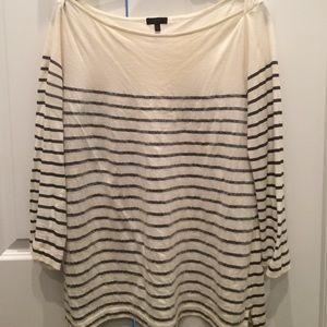Jcrew sequin striped top