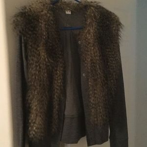Three Dots Fur Jacket -Medium