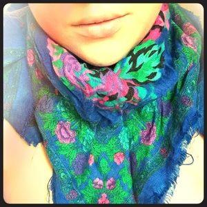 ❤️vintage floral cotton scarf❤️