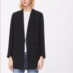 •sale•COS Black Long Slim- fit Blazer