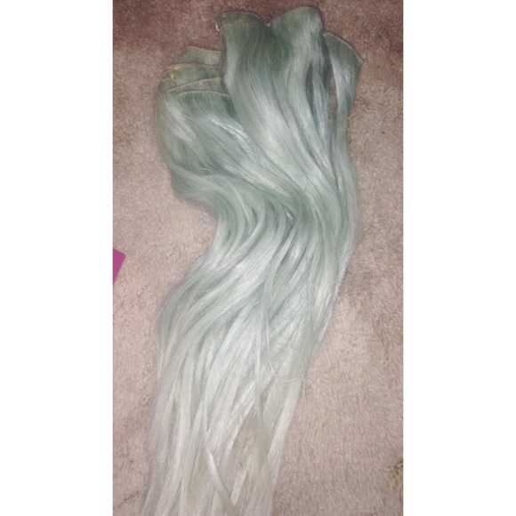 Other Mint Green Hair Extensions Poshmark