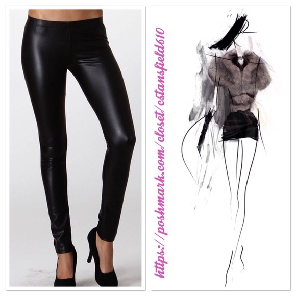 5a0a4b6d62b4b5 Boutique Pants | Small Vegan Leather Leggings | Poshmark