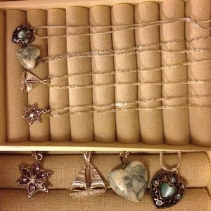 Vintage silver short necklace bundle