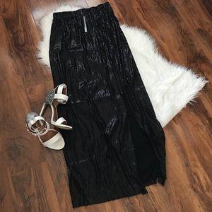 Michael Stars Dresses & Skirts - Black sequin maxi skirt