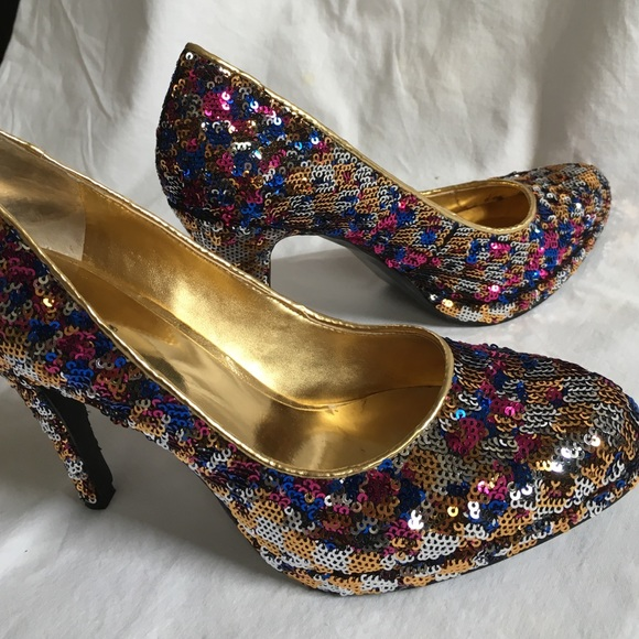 Nine West Shoes - Multi Color sequined pumps