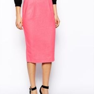ASOS LINEN PENCIL SKIRT-NWTS-size 4