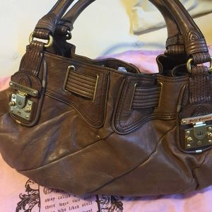 Leather satchel by juicy couture