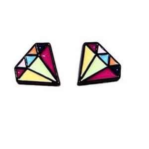 Jewelry - 👍Host pick👍Colorful Diamond shaped stud earrings