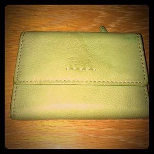 Fossil green wallet