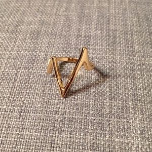 Jewelry - CLEARANCE ♦️New! Gold Tone Pulse Ring
