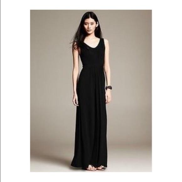 Banana Republic Dresses Black Maxi Dress Poshmark