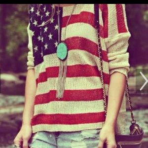 Stars and Stripes oversized sweaters