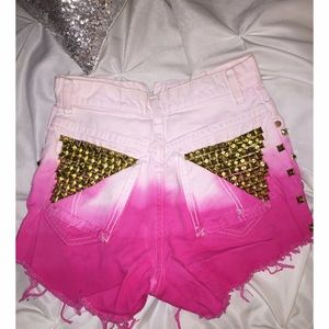 Denim - Pink Ombre Shorts