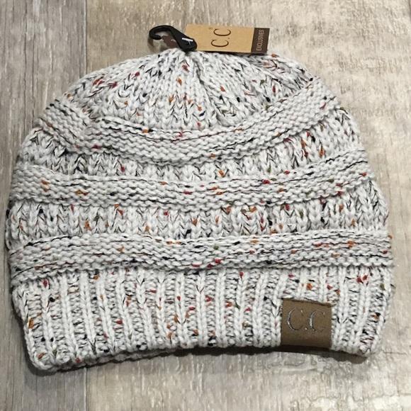 Confetti Oatmeal- Slouchy Knit Beanie ce75f475773