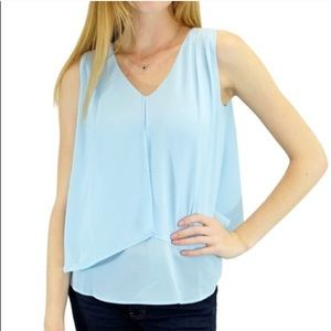 Relished Tops - Relished Clothing Powder Blue flowy Blouse