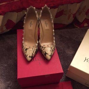 Valentino snake skin heels
