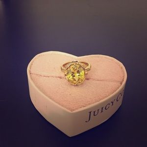Juicy Couture canary yellow ring