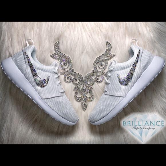 Nike Shoes | Swarovski Roshe White On