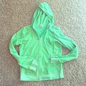 Juicy couture hoodie | terry | green | barely worn