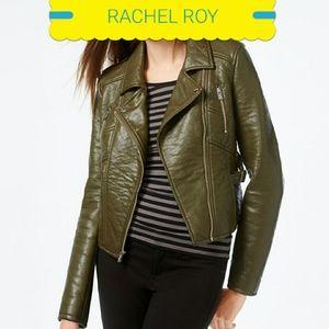 RACHEL Rachel Roy Jackets & Blazers - WOW!!! Rachel Roy olive green leather jacket
