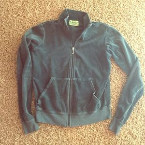 Juicy couture zip up | turquoise green | large