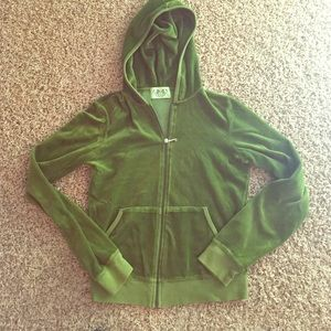 Juicy couture hoodie | LARGE | green | velour