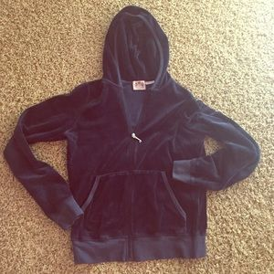 Juicy couture | NAVY | LARGE | velour hoodie