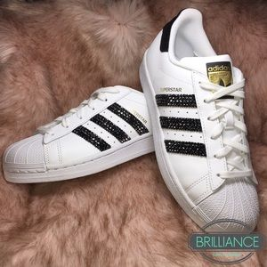 info for 3575f 8c03c Adidas Shoes - Swarovski Adidas Superstar Originals White   Black