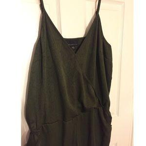 Pants - Olive Textured Jumpsuit