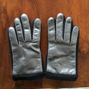 Club Monaco leather gloves with wool/cashmere