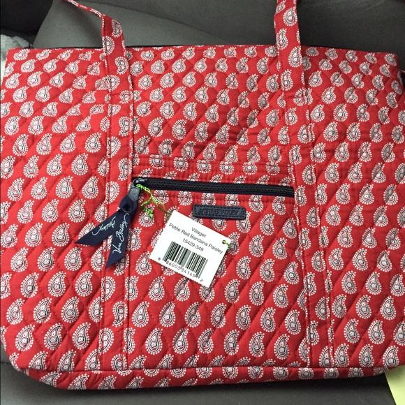 Vera Bradley Bags   Petite Red Bandana Paisley Tote   Poshmark b4278bece2