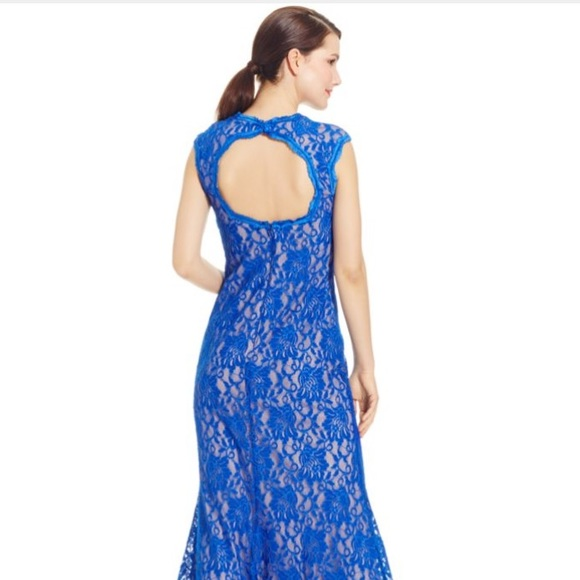 caf00eab Xscape Dresses | Offers Welcome Macys Blue Lace Gown Dress | Poshmark