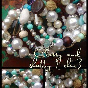 Dresses & Skirts - Beaded memory wire bracelet