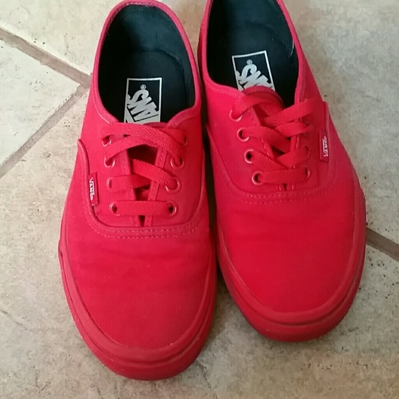 all red vans shoes