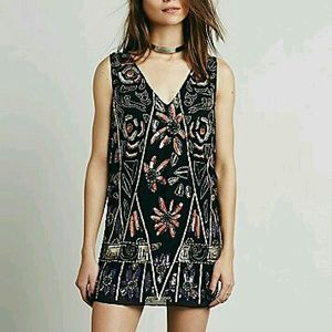 Free People Embellished Shift Dress