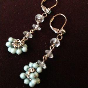 Turquoise inspires dangling earrings