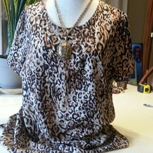 Merona Animal Print Blouse Size XL
