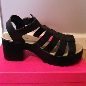 613a8d58a9f Boohoo Shoes - Kia Cleated Sole Platform Sandals