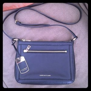 Black Leather Cross Body by Lauren Ralph Lauren