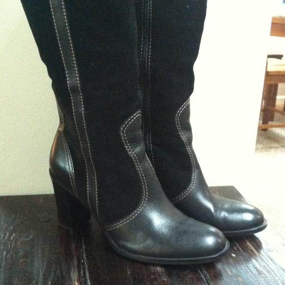 franco sarto black leather franco sarto boots from